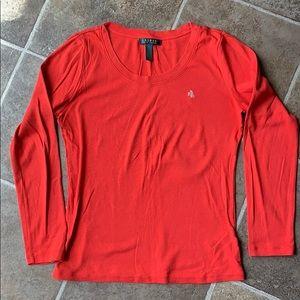 Ralph Lauren reddish orange shirt size medium